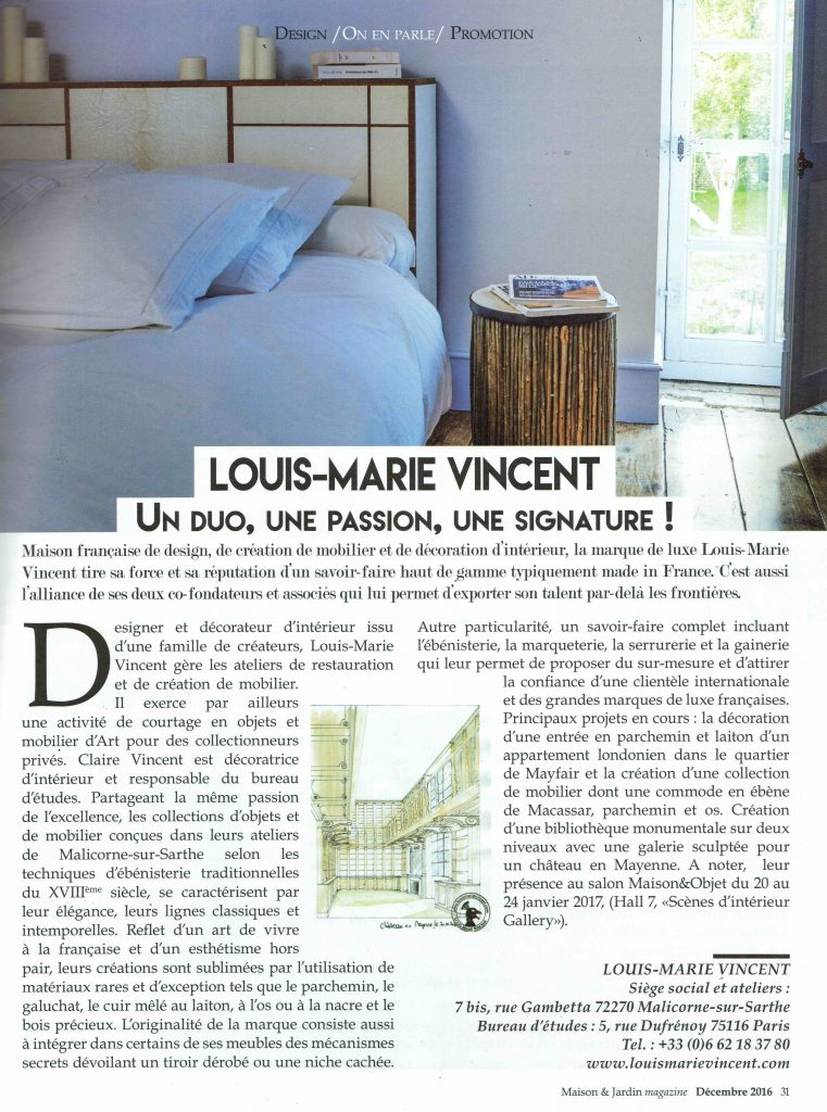 presse maison louis marie vincent. Black Bedroom Furniture Sets. Home Design Ideas