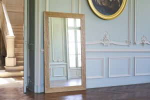 La Muse, miroir, mirror, chêne, chêne gougé, sculpté, lisse, au naturel