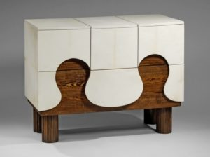 commode, parchemin, bois, hubert Le Gall, Paris
